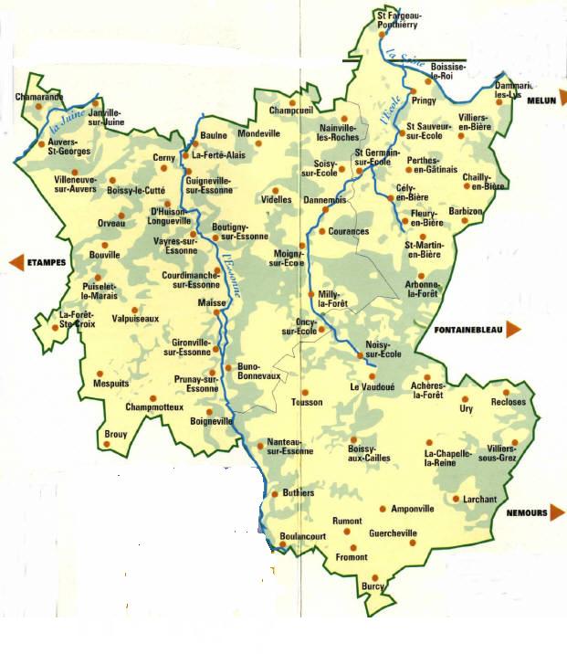 (77 & 91) Le Parc Naturel Régional du Gâtinais Français Carte-gatinais